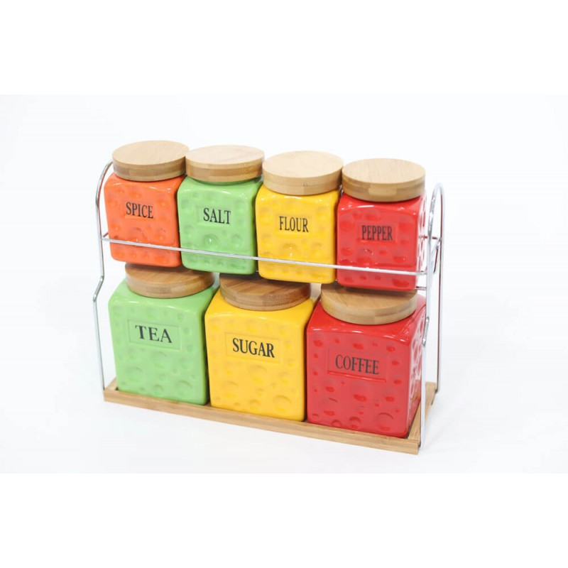 Colored Jars For Kitchen