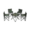 Table & 4 Chairs Foldable Camouflage HF-B23C