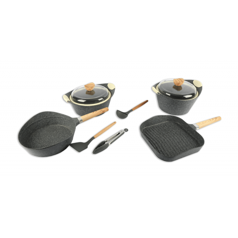Pot Set Ceramic Granite 1537-1 16pcs