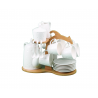 Porcelain Coffee Cups+Coffee Pot+Spoons